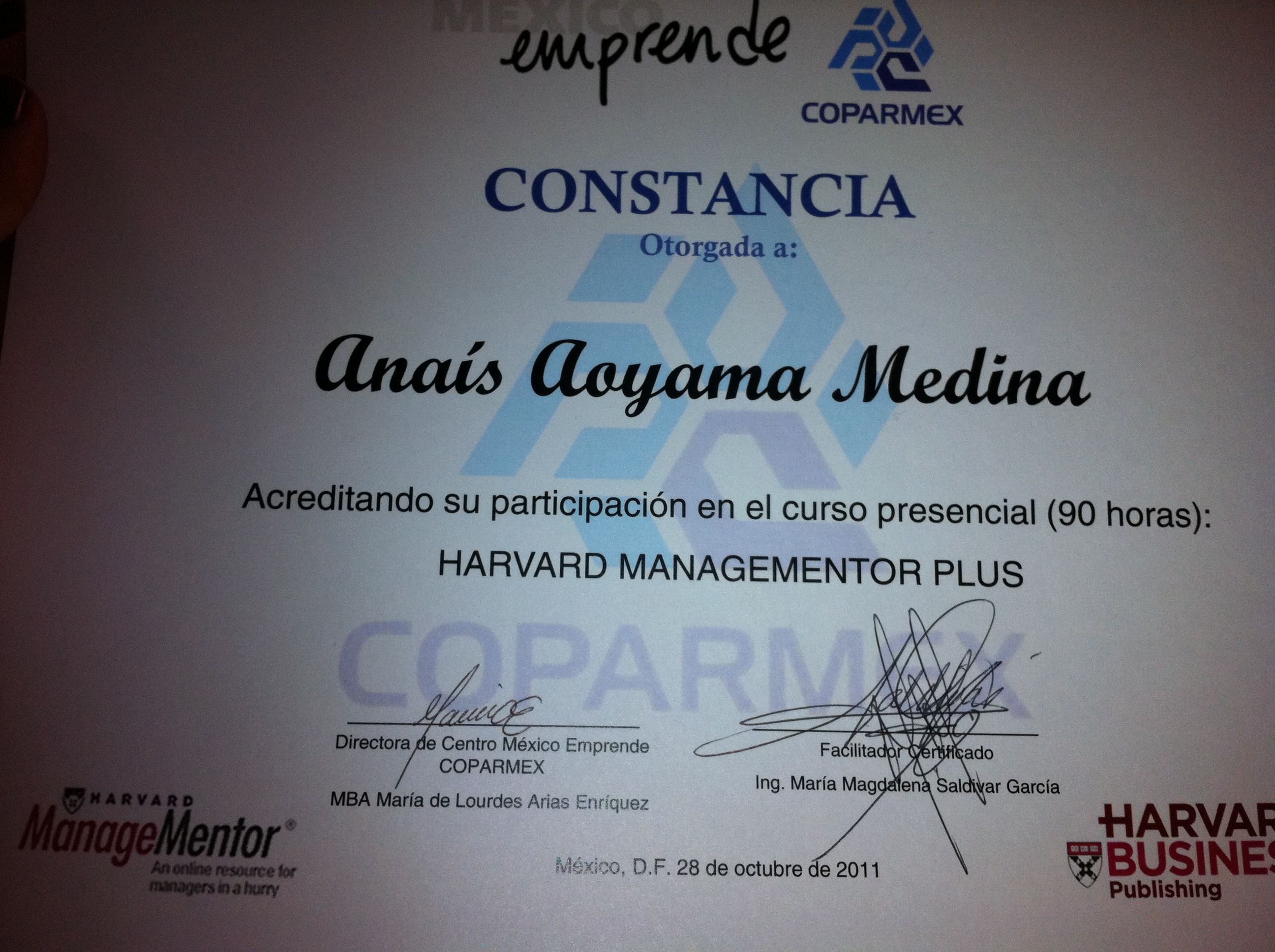 DIPLOMADO HARVARD MANAGE MENTOR PLUS