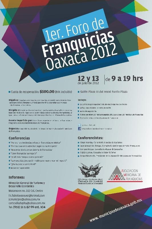 1er Foro de Franquicias Oaxaca 2012