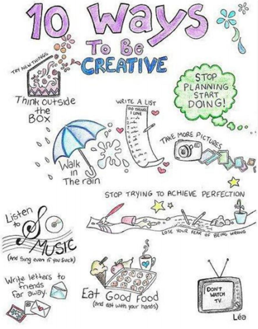 10 ways to be creative